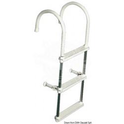 Scaletta lega leggera per canotti 3 gradini