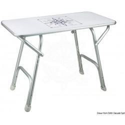 Tavolo pieghevole rettangolare 88 x 44 cm